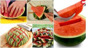راه های خلاقانه و جذاب برش زدن هندوانه