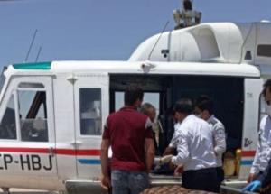 نجات جان مادر باردار شادگانی با بالگرد اورژانس هوایی