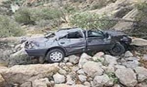 ️سقوط خودروی پژو روآ به دره در محور مهاباد-سردشت