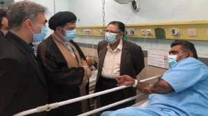 حضور مسئولان دزفول بر بالین مصدومان سقوط بالگرد صندوق انتخابات