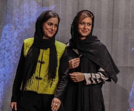 چهره ها/ سلفی پریناز ایزدیار و غزل شاکری در پشت صحنه سریال تاریخی جیران