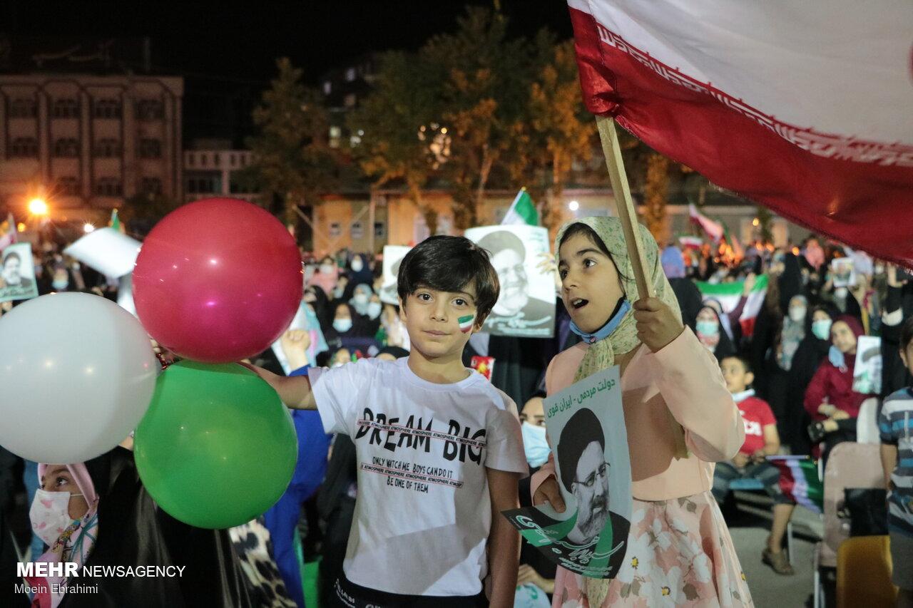 جشن انتخابات در کرمانشاه