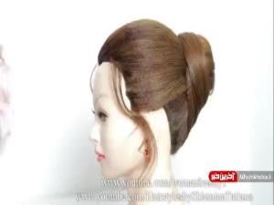 شنیون موهای بلند به ساده ترین روش ممکن