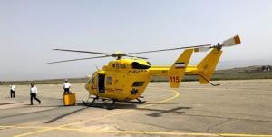 پرواز بالگرد اورژانس چهارمحال و بختیاری برای نجات خانم ۲۷ ساله