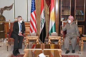 رایزنی سفیر آمریکا در عراق با مسعود بارزانی