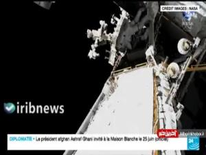 لحظه خارج شدن فضانورد فرانسوی از ایستگاه فضایی بین المللی