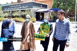 عکس/ حضور خدام رضوی در بیمارستانهای اهواز