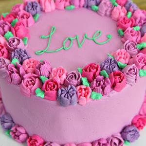 3 مدل تزئین کیک با شکوفه های زیبا