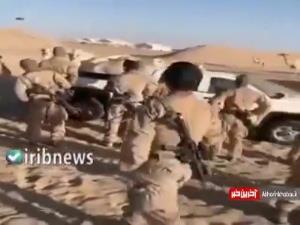 فرار تفنگداران ارتش آمریکا از ترس یک شتر!