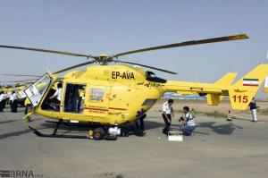 بیمار منطقه عشایری اسفراین با بالگرد اورژانس نجات یافت