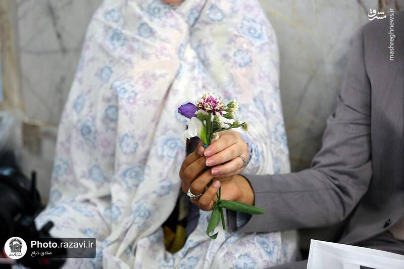 عکس/ آغاز زندگی مشترک در پناه امام رئوف