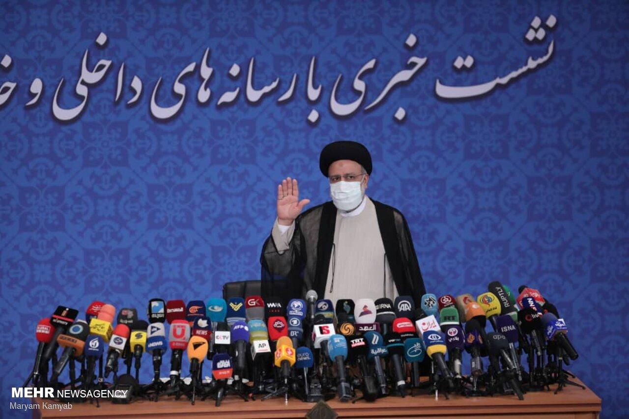 عکس/ اولین نشست خبری رییس جمهور منتخب