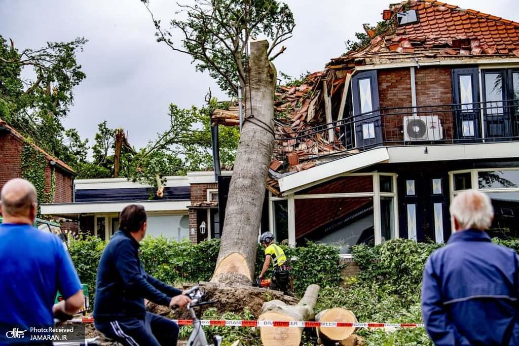 خسارات ناشی از طوفان شدید در هلند