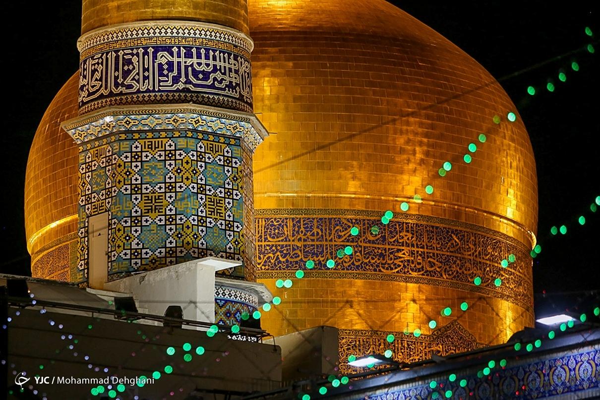 عکس/ حال و هوای حرم مطهر رضوی در شب میلاد حضرت رضا(ع)