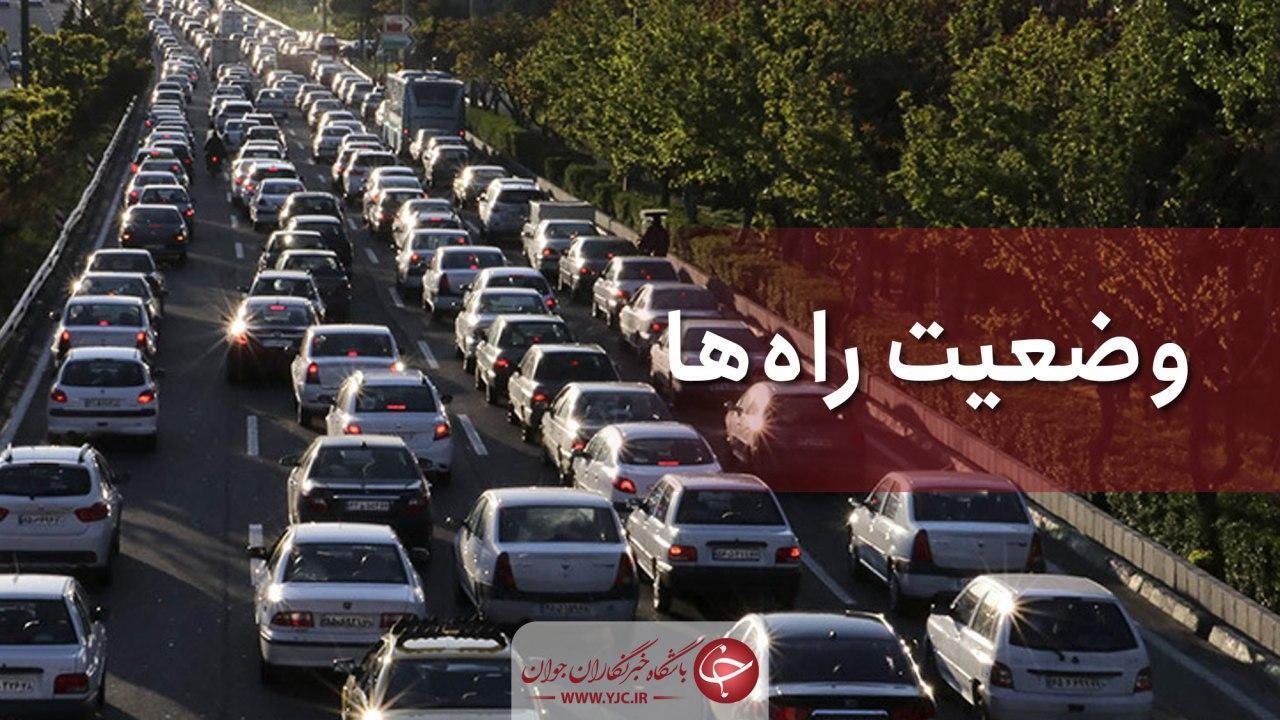 ترافیک در آزادراه قزوین نیمه سنگین است