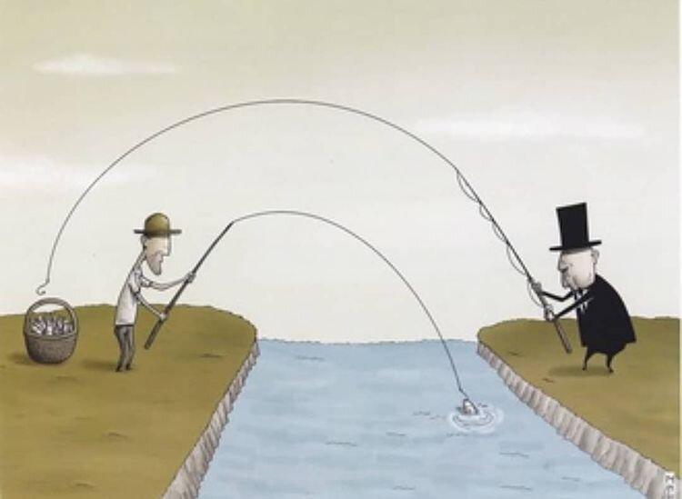 کاریکاتور/ ببینید دست کی تو جیب مردمه؟!