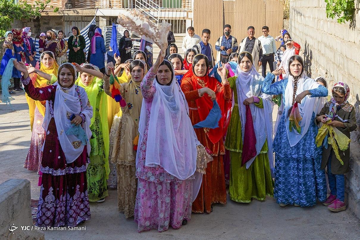 عکس/ جشنواره هزار رنگ در عروسی عشایر «بازفت»