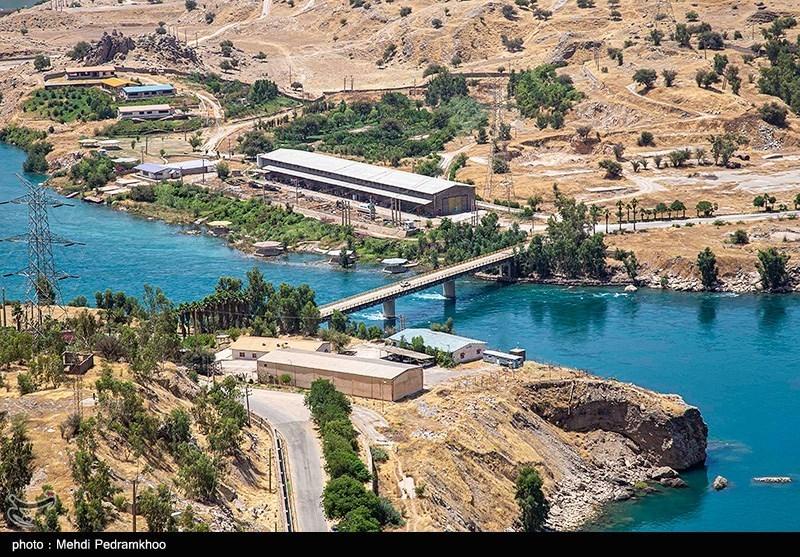 کاهش آب سد شهید عباسپور در خوزستان