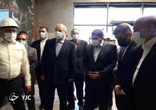 بازدید رئیس مجلس از کارخانه تولید واکسن ایران کوو برکت