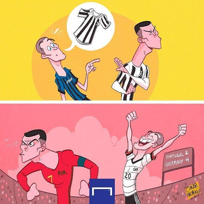 کاریکاتور/ این بازیکن از رونالدو انتقام گرفت!