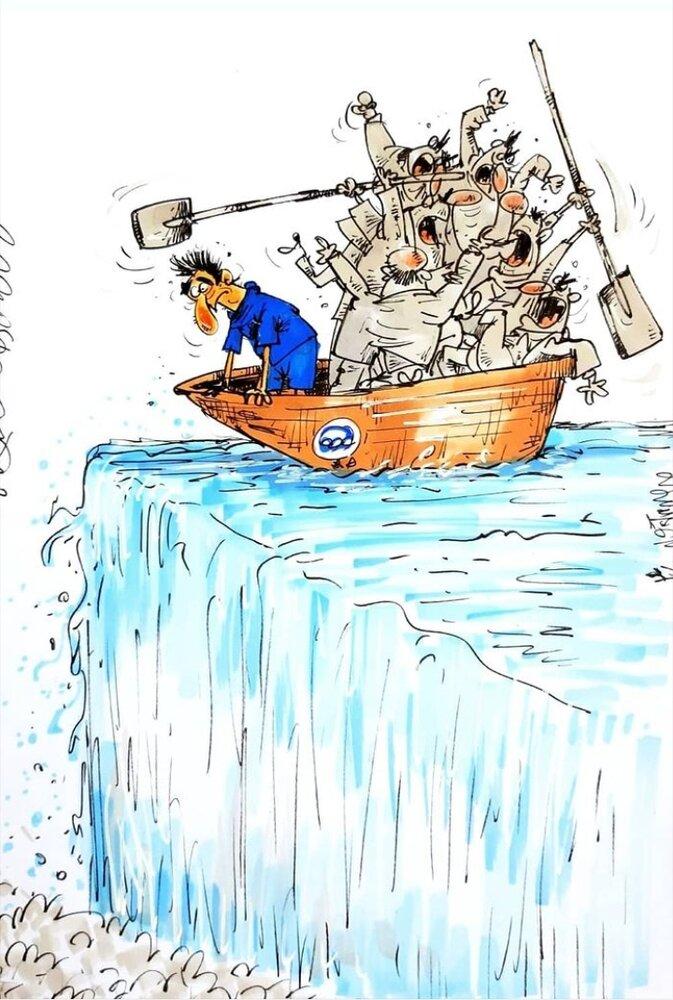 کاریکاتور/ جنگ قدرت در قایق استقلالیها!