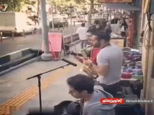 اجرای موسیقی دلنشین در خیابان و بیتوجهی عابران