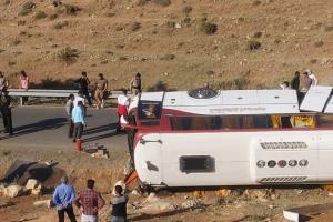 علت واژگونی اتوبوس خبرنگاران اعلام شد
