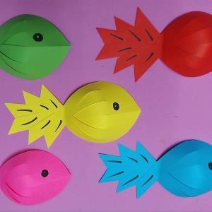 کاردستی ماهی برای سرگرمی بچه ها در تابستان