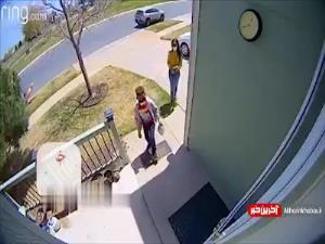 صحنه جالب سورپرایز کردن همسایه در روز تولد دخترش!