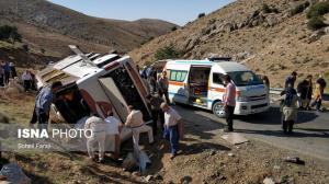 مقصر حادثه واژگونی اتوبوس خبرنگاران شناخته شد