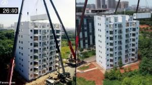 ساخت آپارتمان ۱۰ طبقه در ۲۸ ساعت!