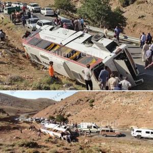 اسامی فوتیهای حادثه واژگونی اتوبوس خبرنگاران اعلام شد