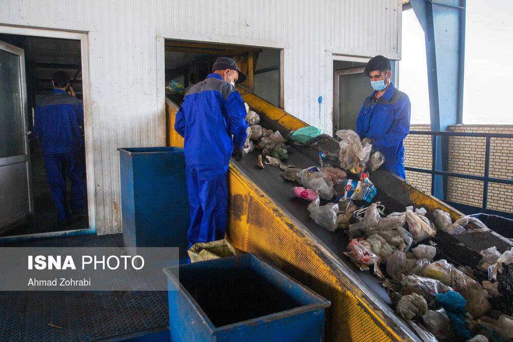 سایت پسماند زباله شهری البرز قم در مسیر کاهش دفن زباله