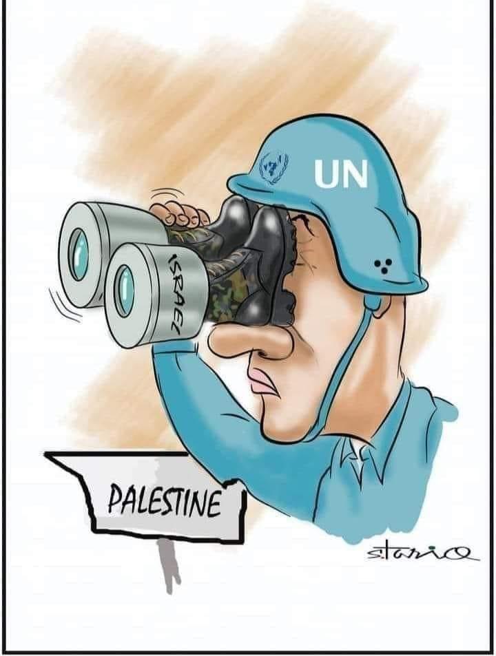 کاریکاتور/ واکنش سازمان ملل به جنایات رژیم صهیونیستی