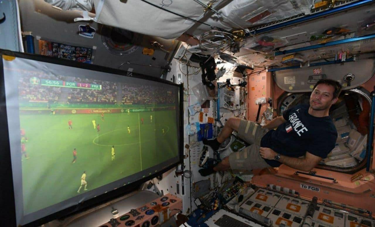 فوتبال حتی در ایستگاه بینالمللی فضایی