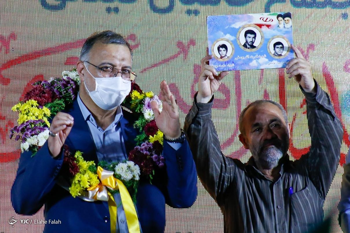 عکس/ جشن پیروزی خادم جمهور با حضور دکتر زاکانی در رشت