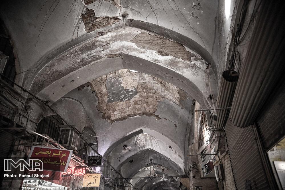 زخم بی توجهی بر پیکر بازار قدیم اصفهان