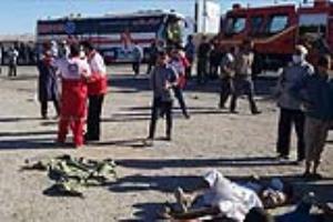 شمار جانباختگان واژگونی اتوبوس در یزد به ۷ نفر رسید