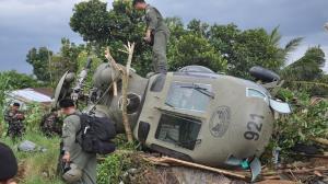 سقوط یک فروند بالگرد ارتش فیلیپین