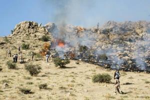 آتش در منطقه شبلیز دنا دوباره شعلهور شد