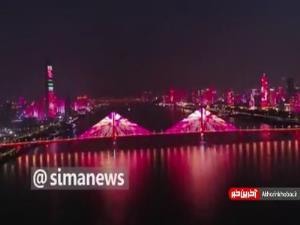 نورافشانی در ووهان و هاربین چین