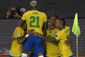 کامبک برزیل در دقیقه ۱۰۰/ صعود سلسائو به عنوان صدرنشین