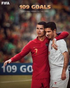 واکنش جالب فیفا درباره رسیدن رونالدو به رکورد دایی