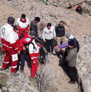 مرگ یک سالمند بر اثر سقوط از کوه