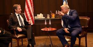 دیدار نفر دوم کابینه جدید اسرائیل با بلینکن