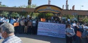 عکس/ اعتراض صنفی کارگران صنعتنفت