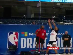 شکستن رکورد پرش عمودی در بسکتبال nba