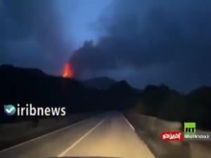 تصاویری از فوران آتشفشان اتنا در سیسیل ایتالیا