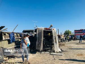 اعلام اسامی فوتیها و مصدومان حادثه تصادف اتوبوس زاهدان-آباده