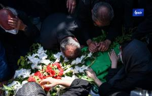 مراسم تشییع پیکر خبرنگاران فقید حوزه محیط زیست